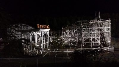 Skyliner at night, Lakemont Park