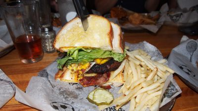 Steelers Burger at Dino's Latrobe