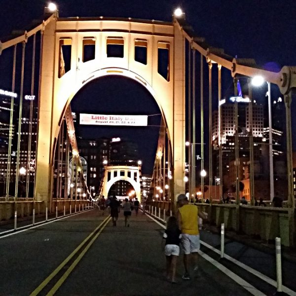 Roberto Clemente Bridge after the Pirates game